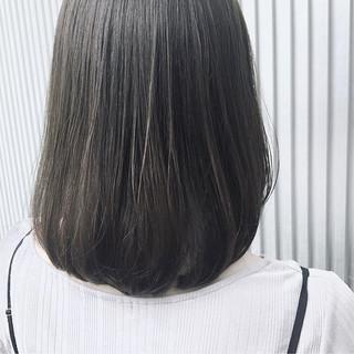 透明感 ナチュラル 前髪あり ミディアム ヘアスタイルや髪型の写真・画像