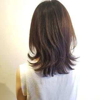 セミロング デート 髪質改善トリートメント TOKIOトリートメント ヘアスタイルや髪型の写真・画像