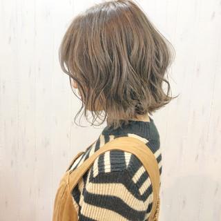 大人かわいい パーマ デート ボブ ヘアスタイルや髪型の写真・画像