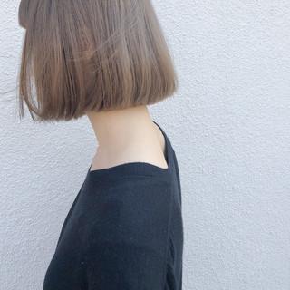 ヘアカラー ボブ デート 切りっぱなしボブ ヘアスタイルや髪型の写真・画像