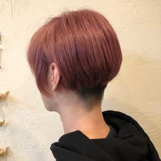 メンズショート メンズカラー ブリーチカラー フェミニン ヘアスタイルや髪型の写真・画像