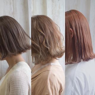 ボブ ブラウンベージュ ミルクティーベージュ ナチュラルベージュ ヘアスタイルや髪型の写真・画像