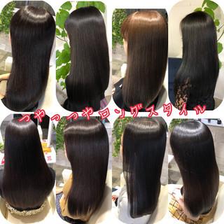 縮毛矯正 髪質改善トリートメント 美髪 360度どこからみても綺麗なロングヘア ヘアスタイルや髪型の写真・画像
