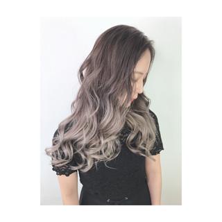 うる艶カラー ブリーチカラー ストリート デザインカラー ヘアスタイルや髪型の写真・画像