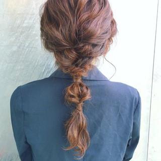 セミロング ヘアアレンジ 簡単ヘアアレンジ 大人かわいい ヘアスタイルや髪型の写真・画像