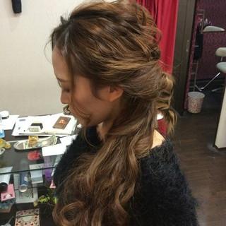 ポニーテール 編み込み ナチュラル ヘアアレンジ ヘアスタイルや髪型の写真・画像