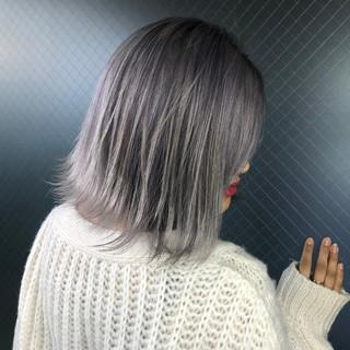 ボブ うる艶カラー ホワイトカラー 艶髪 ヘアスタイルや髪型の写真・画像 ヘアスタイルや髪型の写真・画像