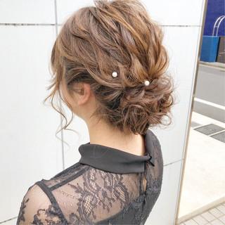 ナチュラル デート 簡単ヘアアレンジ 結婚式 ヘアスタイルや髪型の写真・画像