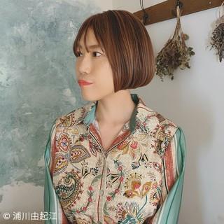 フェミニン 前髪あり モテ髪 ショートボブ ヘアスタイルや髪型の写真・画像