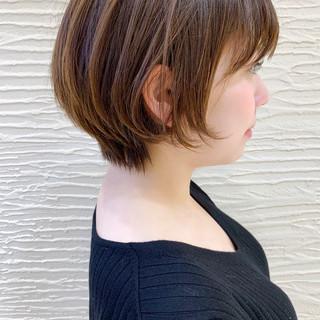 ショート ショートヘア ショートボブ 丸みショート ヘアスタイルや髪型の写真・画像