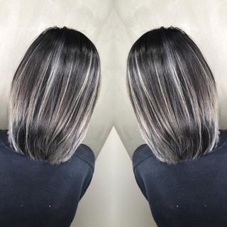 グラデーションカラー ボブ ストリート ハイライト ヘアスタイルや髪型の写真・画像 ヘアスタイルや髪型の写真・画像