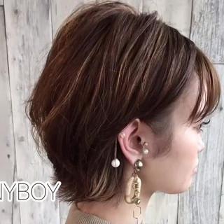 ハイライト デート ヘアアレンジ ブリーチオンカラー ヘアスタイルや髪型の写真・画像