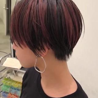 モード 小顔ショート ハンサムショート ショートヘア ヘアスタイルや髪型の写真・画像