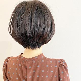 大人かわいい ショート ショートボブ ゆるふわ ヘアスタイルや髪型の写真・画像