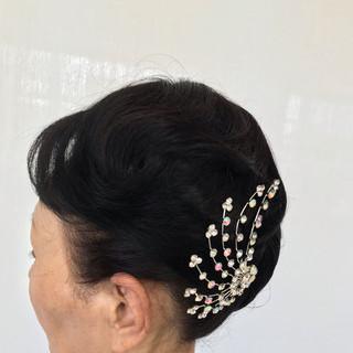 黒髪 モード セミロング ヘアスタイルや髪型の写真・画像