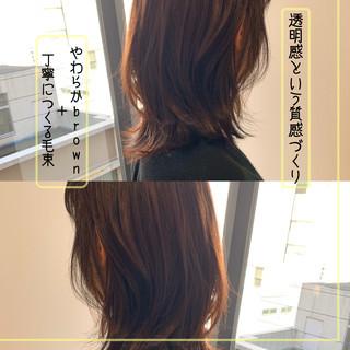 透明感カラー コスメ・メイク ナチュラル 大人かわいい ヘアスタイルや髪型の写真・画像