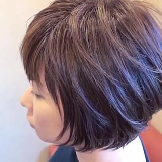 グラボブ ナチュラル レイヤーボブ 大人かわいい ヘアスタイルや髪型の写真・画像