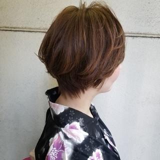 ショートカット ショート ハンサムショート ナチュラル ヘアスタイルや髪型の写真・画像