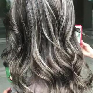 エレガント 外国人風カラー ハイライト ヘアアレンジ ヘアスタイルや髪型の写真・画像