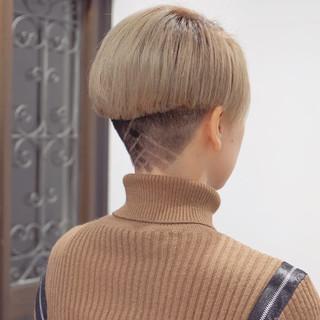 小顔ショート モード ショート 刈り上げショート ヘアスタイルや髪型の写真・画像