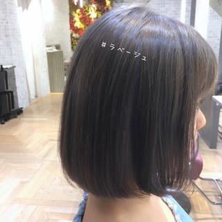 ナチュラル ボブ 透明感カラー ミニボブ ヘアスタイルや髪型の写真・画像