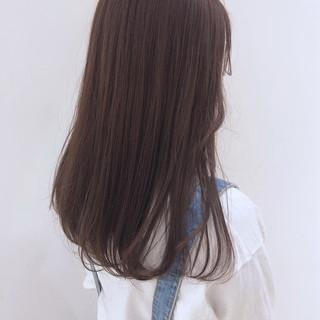 セミロング ラベンダーグレージュ 透明感カラー ストリート ヘアスタイルや髪型の写真・画像