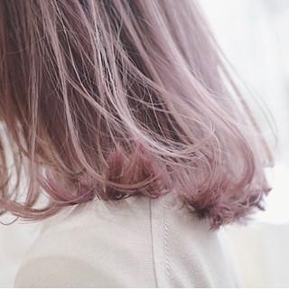 ラベンダーピンク ピンクラベンダー ピンクブラウン ベリーピンク ヘアスタイルや髪型の写真・画像