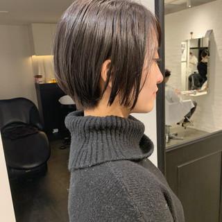 ショートヘア ショート ナチュラル モテボブ ヘアスタイルや髪型の写真・画像