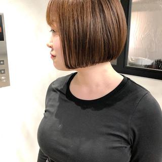 縮毛矯正 ショートボブ ボブ 銀座美容室 ヘアスタイルや髪型の写真・画像