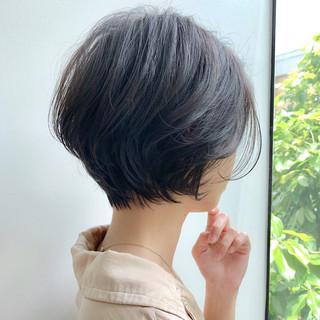 パーマ ナチュラル ショート 簡単ヘアアレンジ ヘアスタイルや髪型の写真・画像