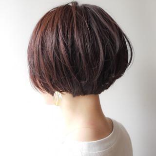 大人女子 オフィス ショートボブ 大人かわいい ヘアスタイルや髪型の写真・画像
