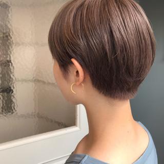 ナチュラル ミルクティーベージュ ベリーショート 簡単ヘアアレンジ ヘアスタイルや髪型の写真・画像