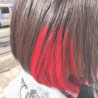 ショートヘア ナチュラル ショートボブ レッドブラウン ヘアスタイルや髪型の写真・画像