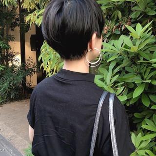 ショートマッシュ ナチュラル 大人ショート マッシュ ヘアスタイルや髪型の写真・画像