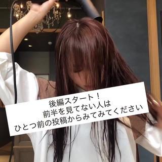 ツヤ髪 ナチュラル ロング ストレート ヘアスタイルや髪型の写真・画像