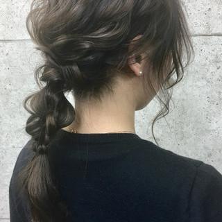 二次会 成人式 卒業式 編みおろし ヘアスタイルや髪型の写真・画像