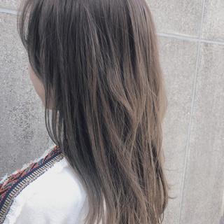 シアーベージュ デート ストリート アンニュイほつれヘア ヘアスタイルや髪型の写真・画像