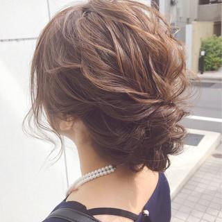 ナチュラル 簡単ヘアアレンジ 結婚式 ヘアアレンジ ヘアスタイルや髪型の写真・画像 ヘアスタイルや髪型の写真・画像