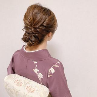 エレガント お呼ばれ 和装ヘア 結婚式 ヘアスタイルや髪型の写真・画像