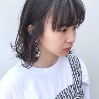 コンサバ デート ミディアム 横顔美人 ヘアスタイルや髪型の写真・画像