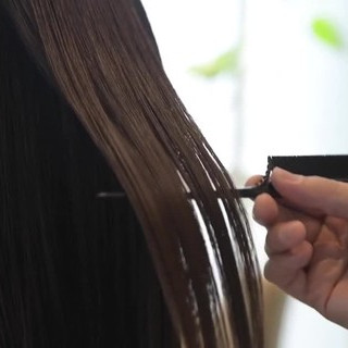 ミディアム ナチュラル 縮毛矯正 髪質改善 ヘアスタイルや髪型の写真・画像