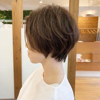 ショート ハンサムショート ショートヘア ふんわりショート ヘアスタイルや髪型の写真・画像