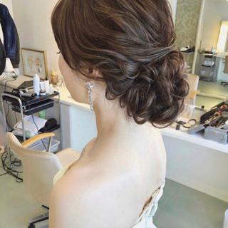 大人かわいい ゆるナチュラル 結婚式ヘアアレンジ おしゃれさんと繋がりたい ヘアスタイルや髪型の写真・画像