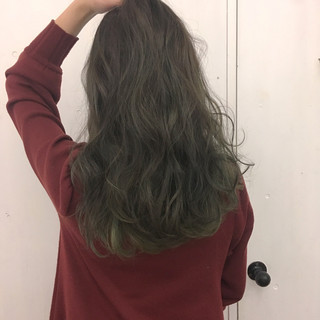 グリーン ストリート マット グラデーションカラー ヘアスタイルや髪型の写真・画像 ヘアスタイルや髪型の写真・画像