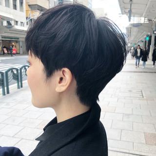 小顔 小顔ショート ショートヘア ショートボブ ヘアスタイルや髪型の写真・画像