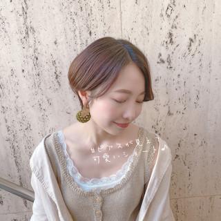 小顔ヘア ショートボブ ショート モテ髪 ヘアスタイルや髪型の写真・画像