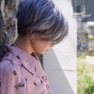 ショート ストリート ハイトーンカラー ヘアスタイルや髪型の写真・画像