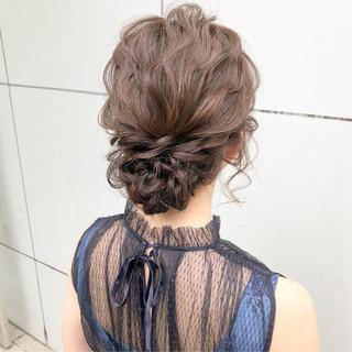 セミロング スポーツ 結婚式 簡単ヘアアレンジ ヘアスタイルや髪型の写真・画像 ヘアスタイルや髪型の写真・画像