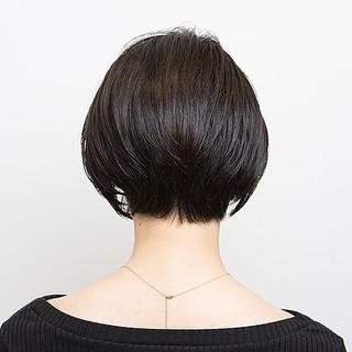 ハンサムボブ ハンサムショート 似合わせカット PEEK-A-BOO ヘアスタイルや髪型の写真・画像