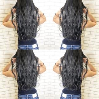 アディクシーカラー ロング ウェーブ 髪質改善 ヘアスタイルや髪型の写真・画像